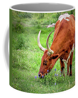 Texas Longhorn Grazing Coffee Mug