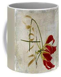 textured Gloriosa Lily. Coffee Mug