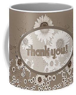 Thank You Card Daisies Coffee Mug