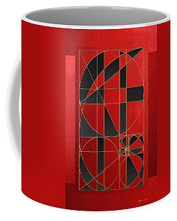 The Alchemy - Divine Proportions - Black On Red Coffee Mug