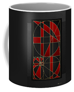 The Alchemy - Divine Proportions - Red On Black Coffee Mug