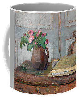 The Artist's Paint Box And Moss Roses Coffee Mug