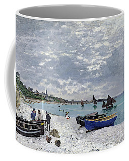 The Beach At Sainte Adresse Coffee Mug