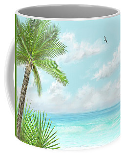 Coffee Mug featuring the digital art The Beach by Darren Cannell