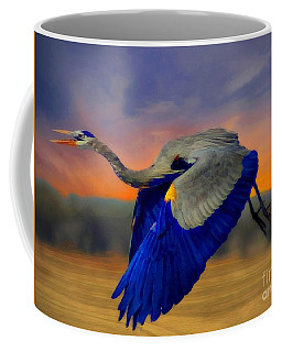 The Blue Heron Coffee Mug