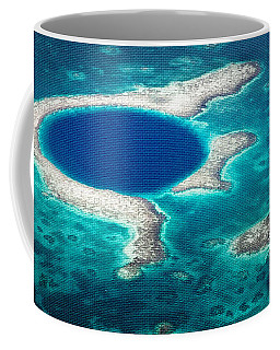 Coffee Mug featuring the photograph The Blue Hole by Lawrence Burry