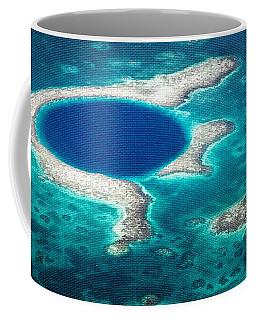 The Blue Hole Coffee Mug by Lawrence Burry