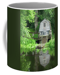 Coffee Mug featuring the photograph Painted Effect - Boathouse by Susan Leonard