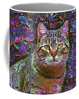 The Cat Who Loved Flowers 2 Coffee Mug