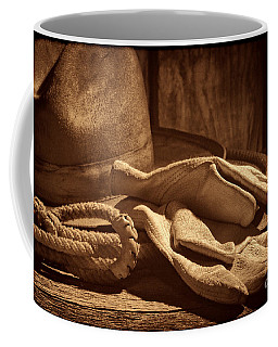 The Cowboy Gloves Coffee Mug by American West Legend By Olivier Le Queinec