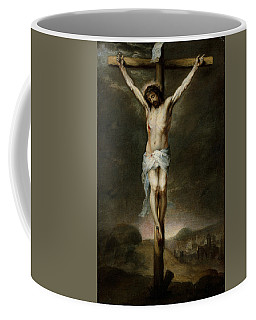 Coffee Mug featuring the painting The Crucifixion by Bartolome Esteban Murillo