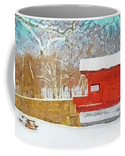 The Ebenezer Bridge In Winter Coffee Mug
