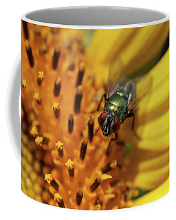 Coffee Mug featuring the photograph The Fly by Trina Ansel