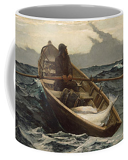 Coffee Mug featuring the painting The Fog Warning - 1885 by Winslow Homer