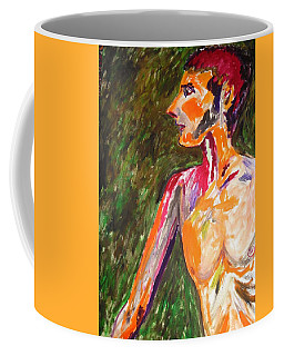 Coffee Mug featuring the painting Benjamin Beseiged by Esther Newman-Cohen