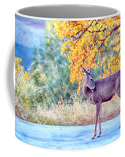 Coffee Mug featuring the photograph The Groomer by AJ Schibig