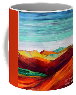 Coffee Mug featuring the painting The Hills Are Alive by Kim Nelson
