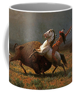 Coffee Mug featuring the painting The Last Of The Buffalo by Albert Bierstadt