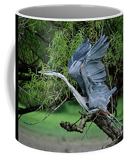 Coffee Mug featuring the photograph The Launch by Douglas Stucky