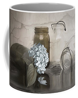 Coffee Mug featuring the mixed media The Looking Glass by Robin-Lee Vieira