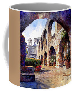 Coffee Mug featuring the painting The Mission by Andrew King