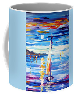 The Moon And The Sails Coffee Mug