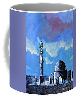 Coffee Mug featuring the painting The Mosque by Nizar MacNojia
