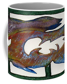 Coffee Mug featuring the mixed media The Prozak Fish by Robert Margetts