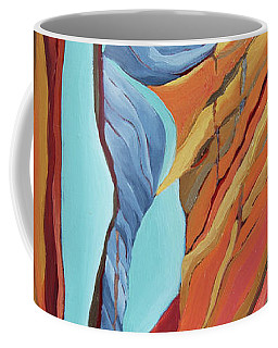 Coffee Mug featuring the painting The Rocks Cried Out, Zion by Erin Fickert-Rowland