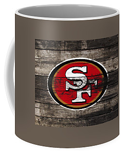Coffee Mug featuring the mixed media The San Francisco 49ers 3a by Brian Reaves