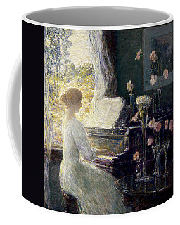 Coffee Mug featuring the painting The Sonata by Childe Hassam