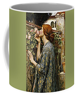 Coffee Mug featuring the painting The Soul Of The Rose by John William Waterhouse