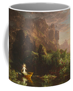 Coffee Mug featuring the painting The Voyage Of Life, Childhood by Thomas Cole