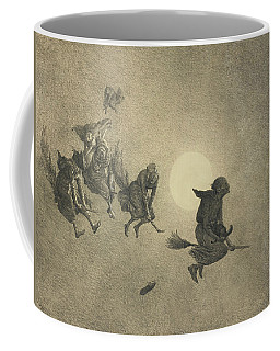 Coffee Mug featuring the drawing The Witches' Ride by William Holbrook Beard