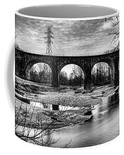 Thomas Viaduct In Black And White Coffee Mug