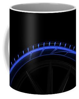 Tire Luminous Tread And Dark Background Coffee Mug