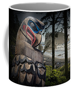 Totem Pole In The Pacific Northwest Coffee Mug