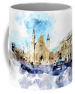 Town Life In Watercolor Style Coffee Mug