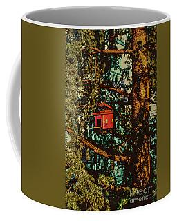 Train Bird House Coffee Mug
