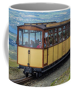Coffee Mug featuring the photograph Train To Snowdon by Ian Mitchell
