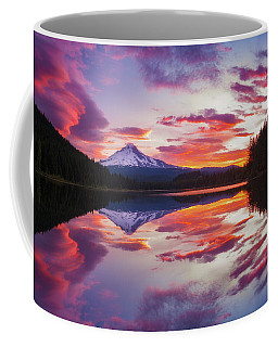 Coffee Mug featuring the photograph Trillium Lake Sunrise by Darren White