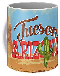 Tucson Arizona Vintage Travel Ad Coffee Mug