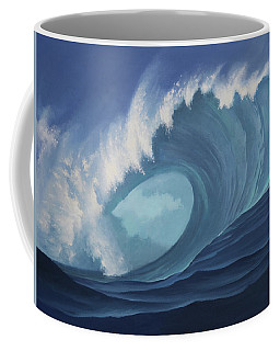 Coffee Mug featuring the painting Turquoise Surf by Cliff Wassmann