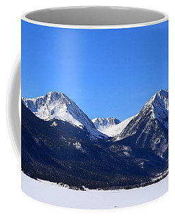 Coffee Mug featuring the photograph Twin Lakes Mountains Leadville Co by Margarethe Binkley