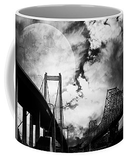 Two Bridges One Moon Coffee Mug