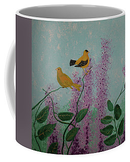 Two Yellow Chickadees Coffee Mug