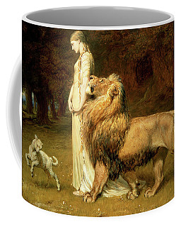 Una And Lion From Spensers Faerie Queene Coffee Mug