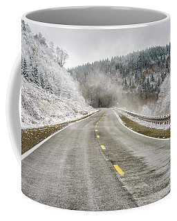 Coffee Mug featuring the photograph Unexpected Autumn Snow Highland Scenic Highway by Thomas R Fletcher