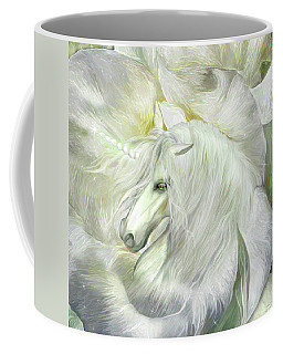 Coffee Mug featuring the mixed media Unicorn Rose by Carol Cavalaris
