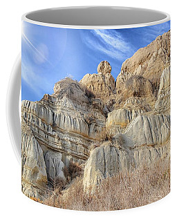Coffee Mug featuring the photograph Unstable Cliffs by Alison Frank